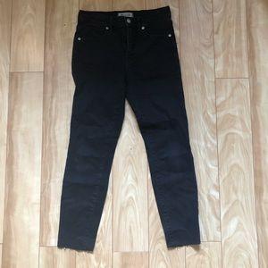 Madewell 9 inch black skinny jean
